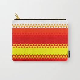 Rainbow Colored Geometric Pattern Carry-All Pouch