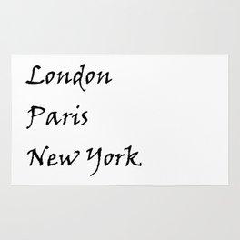 London Paris New York Rug