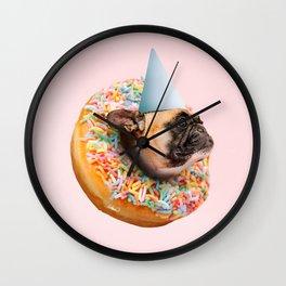 Dog Party Donut Wall Clock