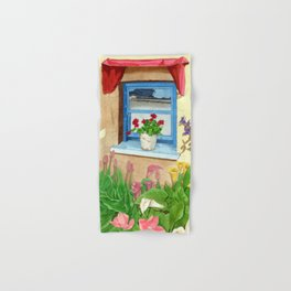 provencal_blue_window Hand & Bath Towel
