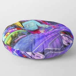 Times Square Van Gogh Floor Pillow