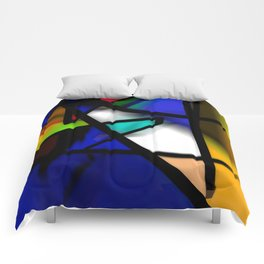 After Midnight abstract art Comforters