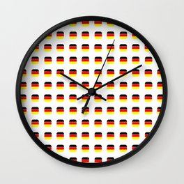 Flag of Germany -with soft square Wall Clock