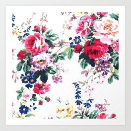 Bouquets with roses Art Print