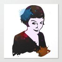 amelie Canvas Prints featuring Amelie by BIG Colours