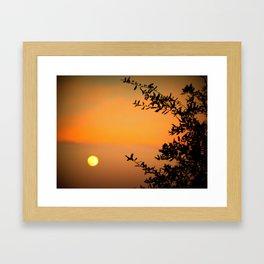 An Early Moon  Framed Art Print