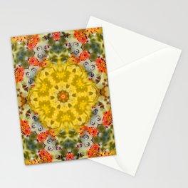 Marigold Kaleidoscope Photographic Pattern #1 Stationery Cards