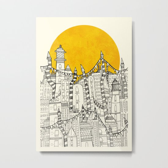 Big Sun Small City Metal Print