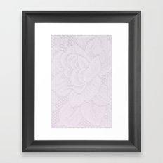 Lavender Lace Framed Art Print