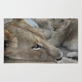 Lion with her Cub Rug
