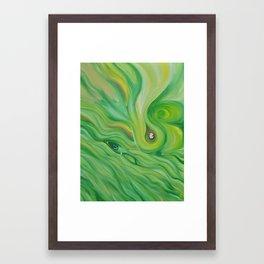 Against the waves Framed Art Print