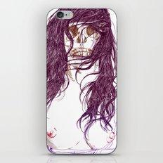 Give us a kiss (bw) iPhone & iPod Skin
