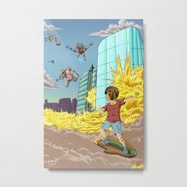 Science Fiction Illustration Metal Print
