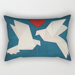 Origami Lovebirds Rectangular Pillow