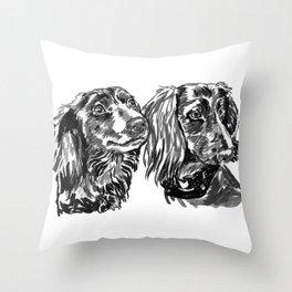dacshund love Throw Pillow