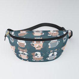 Doggie Coffee and Tea Time II Fanny Pack