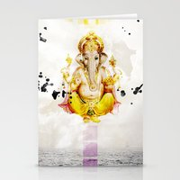 ganesha Stationery Cards featuring Ganesha by O. Be
