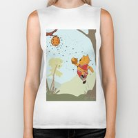 pooh Biker Tanks featuring Pooh Rose by Jen Hynds