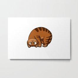 funny cats - fat cat - cat cartoon Metal Print