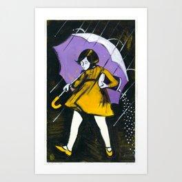 "Miss Morton (2010), 17"" x 27"", acrylic on gesso on chipboard Art Print"