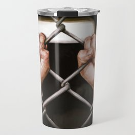 caged hands Travel Mug
