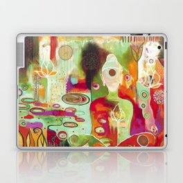 """Rooted In Love"" Original Painting by Flora Bowley Laptop & iPad Skin"
