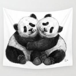 Panda's Hugs G143 Wall Tapestry