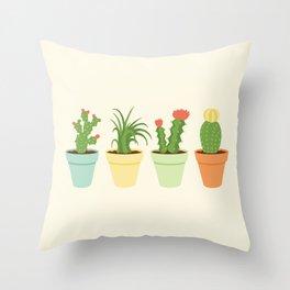 Cactus Garden Throw Pillow