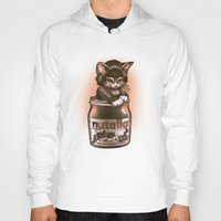 nutella Hoodies featuring Kitten Loves Nutella by Tim Shumate