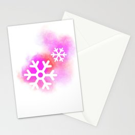 Purple flocon Stationery Cards