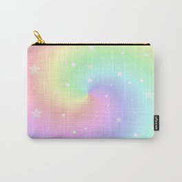 Rainbow Swirls and Stars Carry-All Pouch