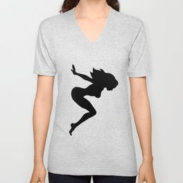 Our Bodies Our Way Future Is Female Feminist Statement Mudflap Girl Diving Unisex V-Neck