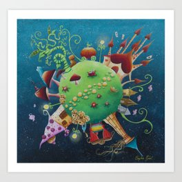 tales 's planet Art Print