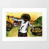 cuba Art Prints featuring Cuba by Christie Minnie