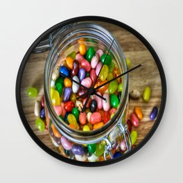 Jelly Bean Street Wall Clock