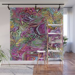 Flowers and candy abstract Wall Mural
