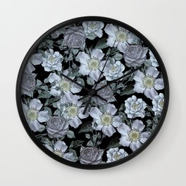 Roses at Night Wall Clock