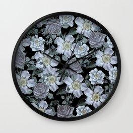 Roses at Night Wall Clock