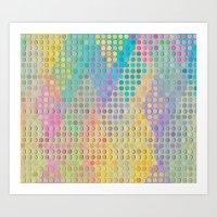 Colorful diamond hole punch Art Print