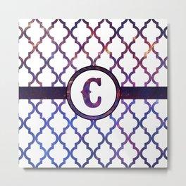 Galaxy Monogram: Letter C Metal Print