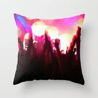rave Throw Pillows featuring rave by xp4nder