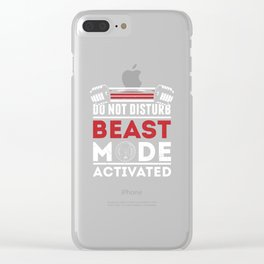 Do Not Disturb Beast Mode Activated Clear iPhone Case