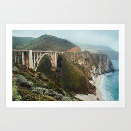 Bixby Bridge | Big Sur California Highway Ocean Coastal Travel Photography Art Print