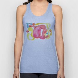 Heart full of love watercolor abstraction painting Unisex Tank Top
