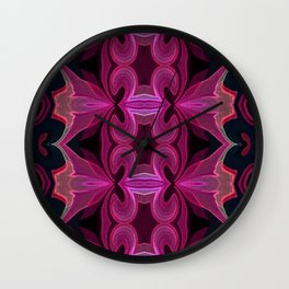 Pink n Black Beauty Wall Clock