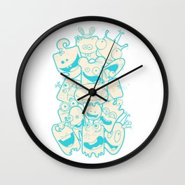 Crazy Monsters Wall Clock