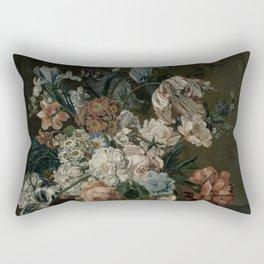 Cornelia Van Der Mijn - Still Life With Flowers Rectangular Pillow