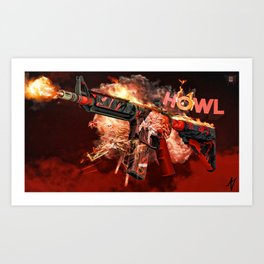 Machine Gun 13 Art Print