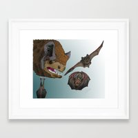 bats Framed Art Prints featuring Bats by Akira Hikawa