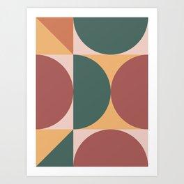 Mid Century Modern Geometric Abstract 231 Art Print